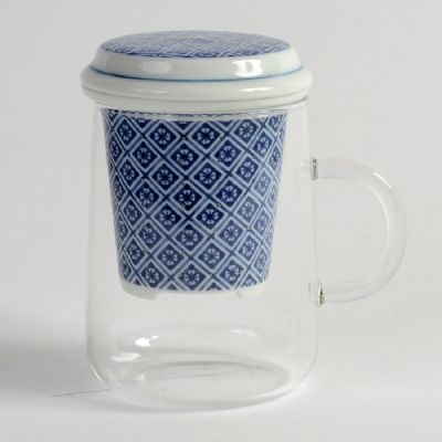 Japanese Porcelain Infuser with Glass Cup (TILE) £13.00